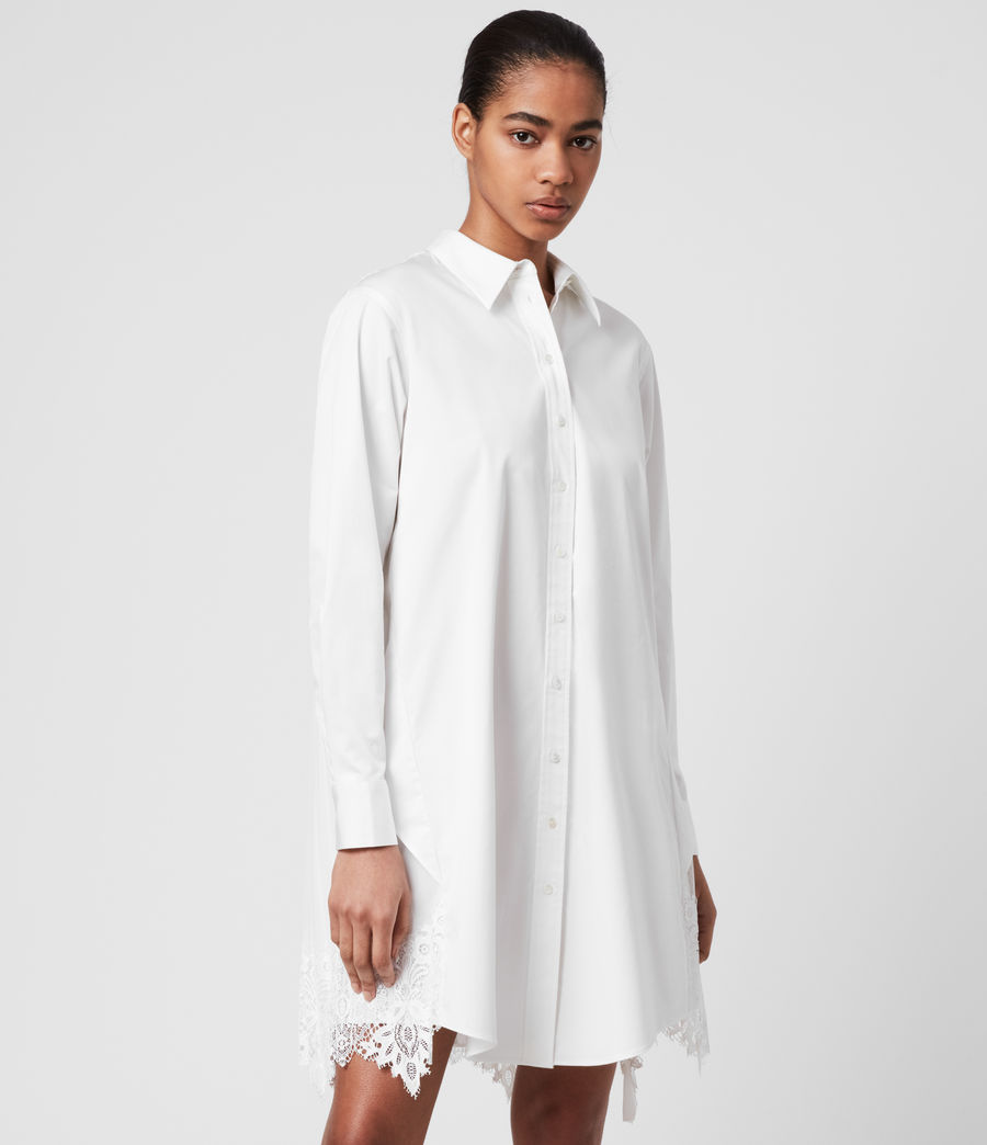 Womens Iris Lace Shirt Dres (chalk_white) - Image 3
