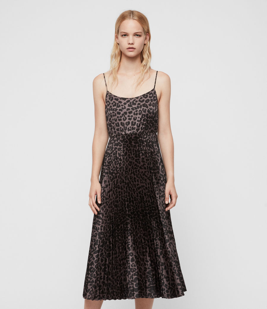 Donne Abito Leowa - 2-in-1 con slip dress leopardato e maglione corto (charcoal_pewter) - Image 3