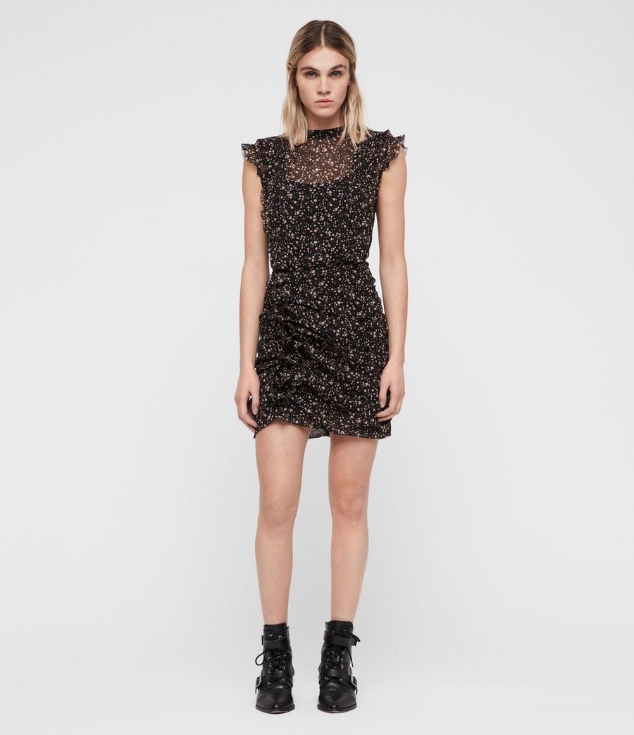 Womens Hali Pepper Dress (black) - Image 3