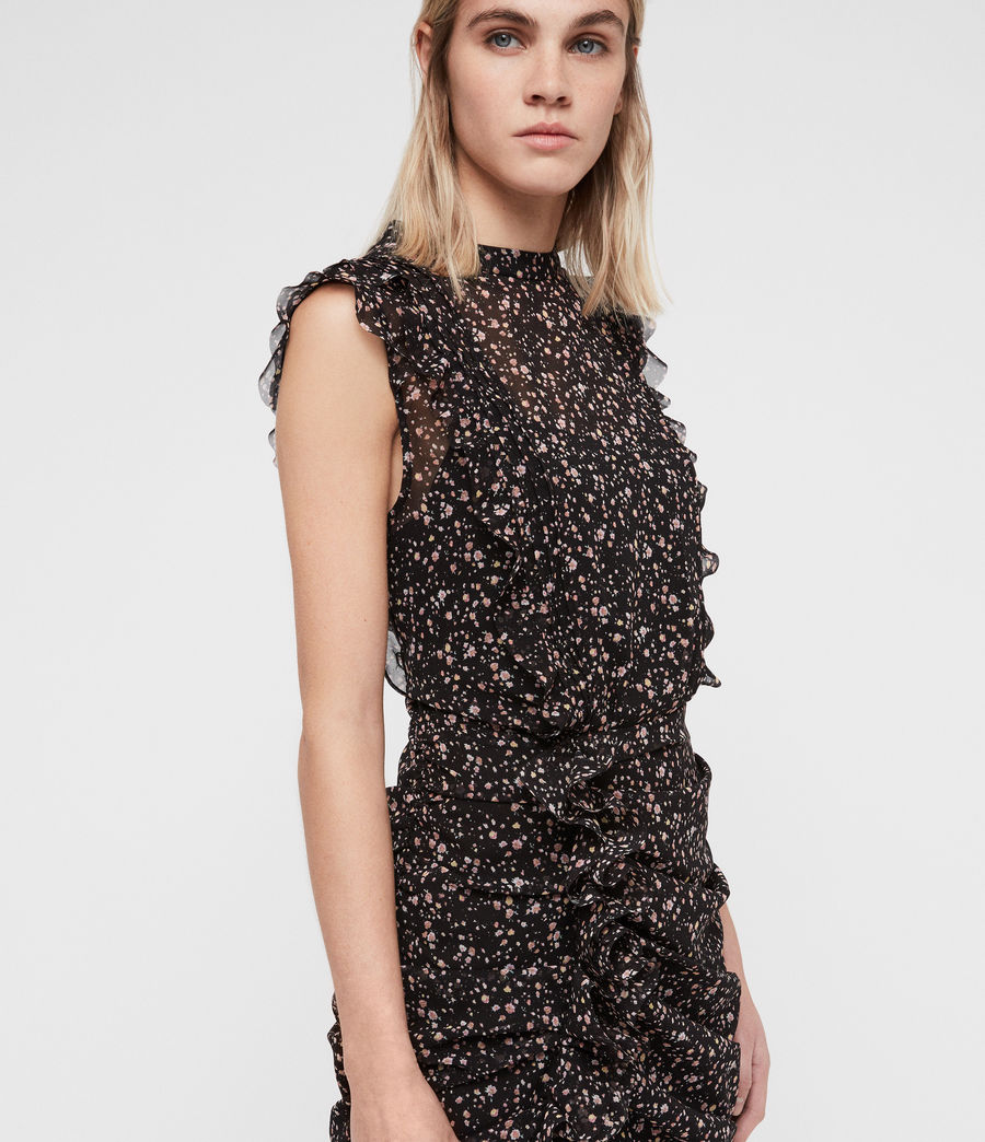 Womens Hali Pepper Dress (black) - Image 4