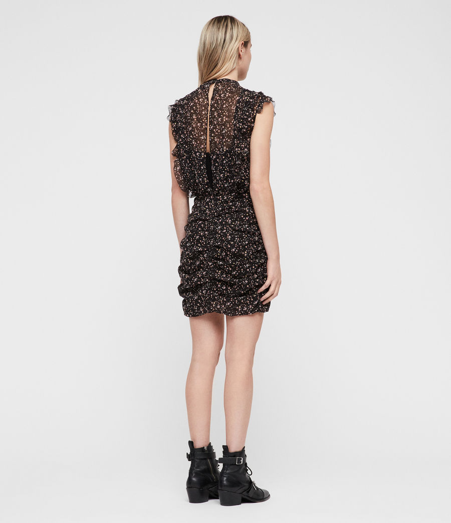 Womens Hali Pepper Dress (black) - Image 6