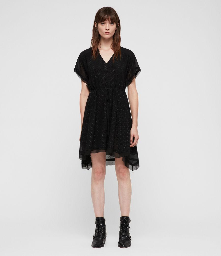 Womens Keira Shimmer Dress (black) - Image 1
