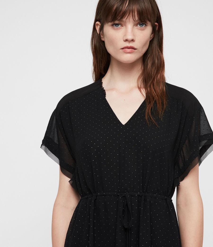 Womens Keira Shimmer Dress (black) - Image 2