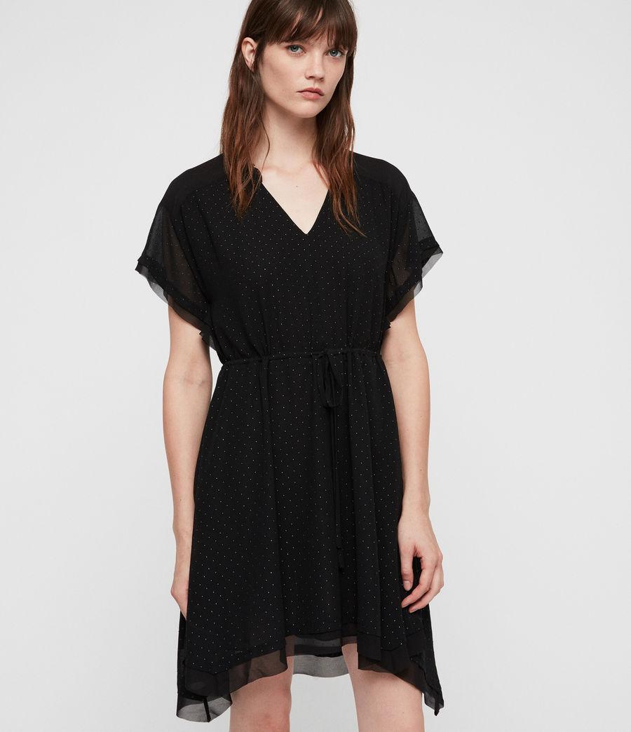 Damen Keira Shimmer Kleid (black) - Image 4