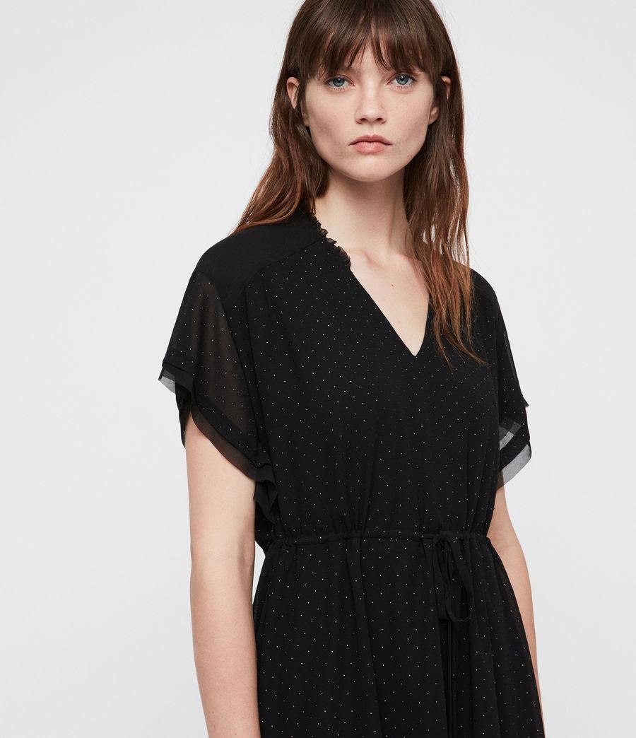Womens Keira Shimmer Dress (black) - Image 5