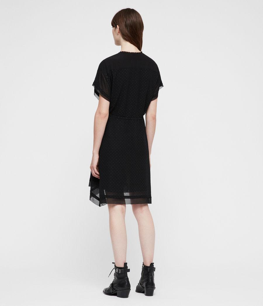 Womens Keira Shimmer Dress (black) - Image 6