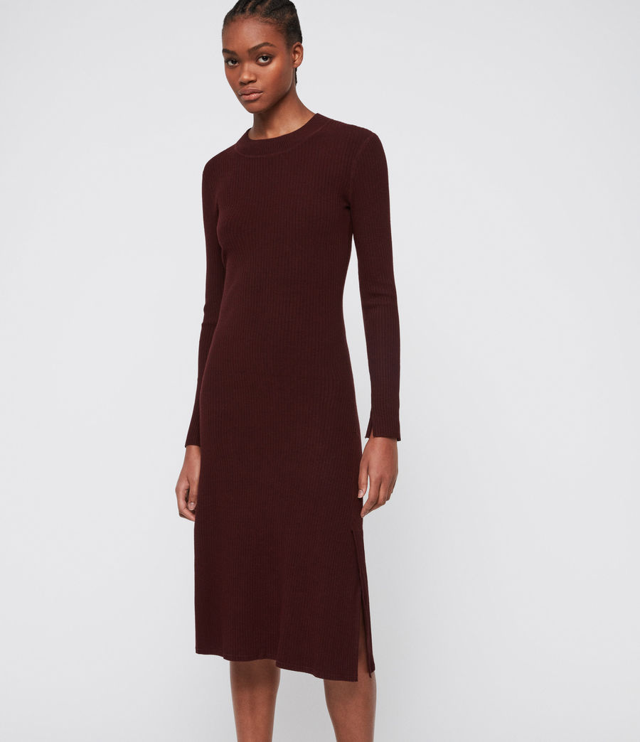 Women's Nala Dress (bordeaux_red) - Image 1
