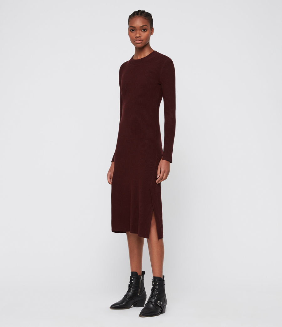 Women's Nala Dress (bordeaux_red) - Image 3