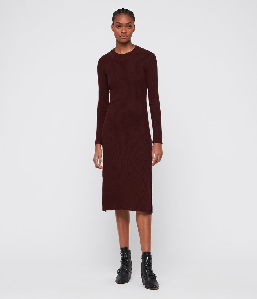 Women's Nala Dress (bordeaux_red) - Image 4