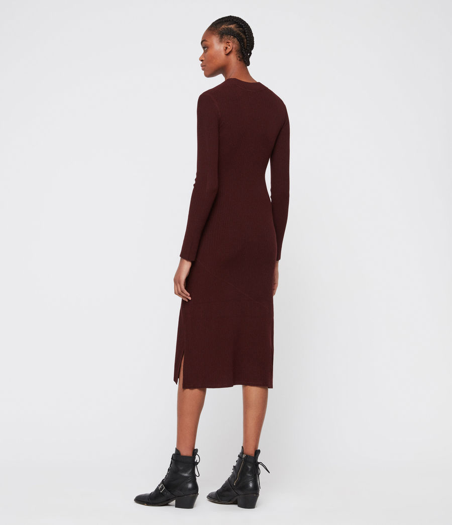 Women's Nala Dress (bordeaux_red) - Image 5