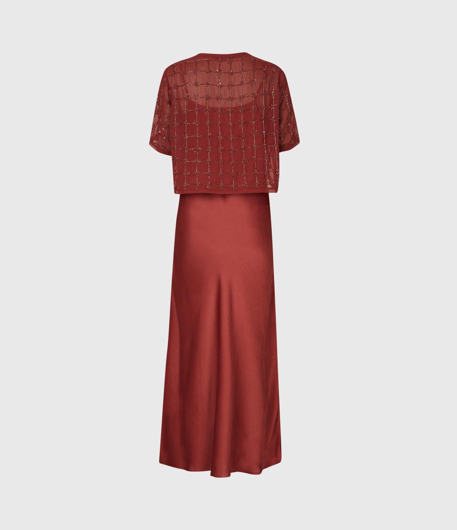 Women's Reille Grid 2-In-1 Dress (deep_cherry) - Image 3