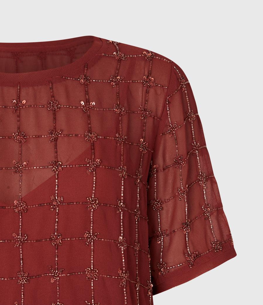 Women's Reille Grid 2-In-1 Dress (deep_cherry) - Image 4