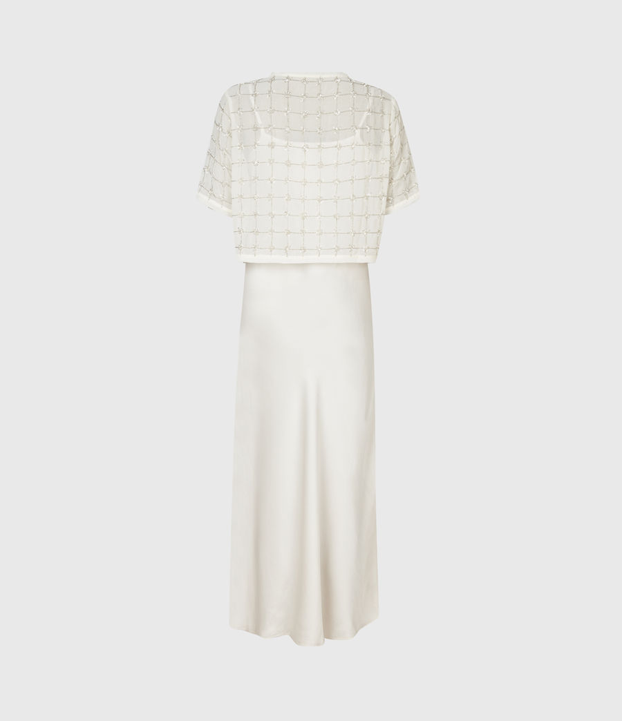 Womens Reille Grid 2-In-1 Dress (chalk_white) - Image 3