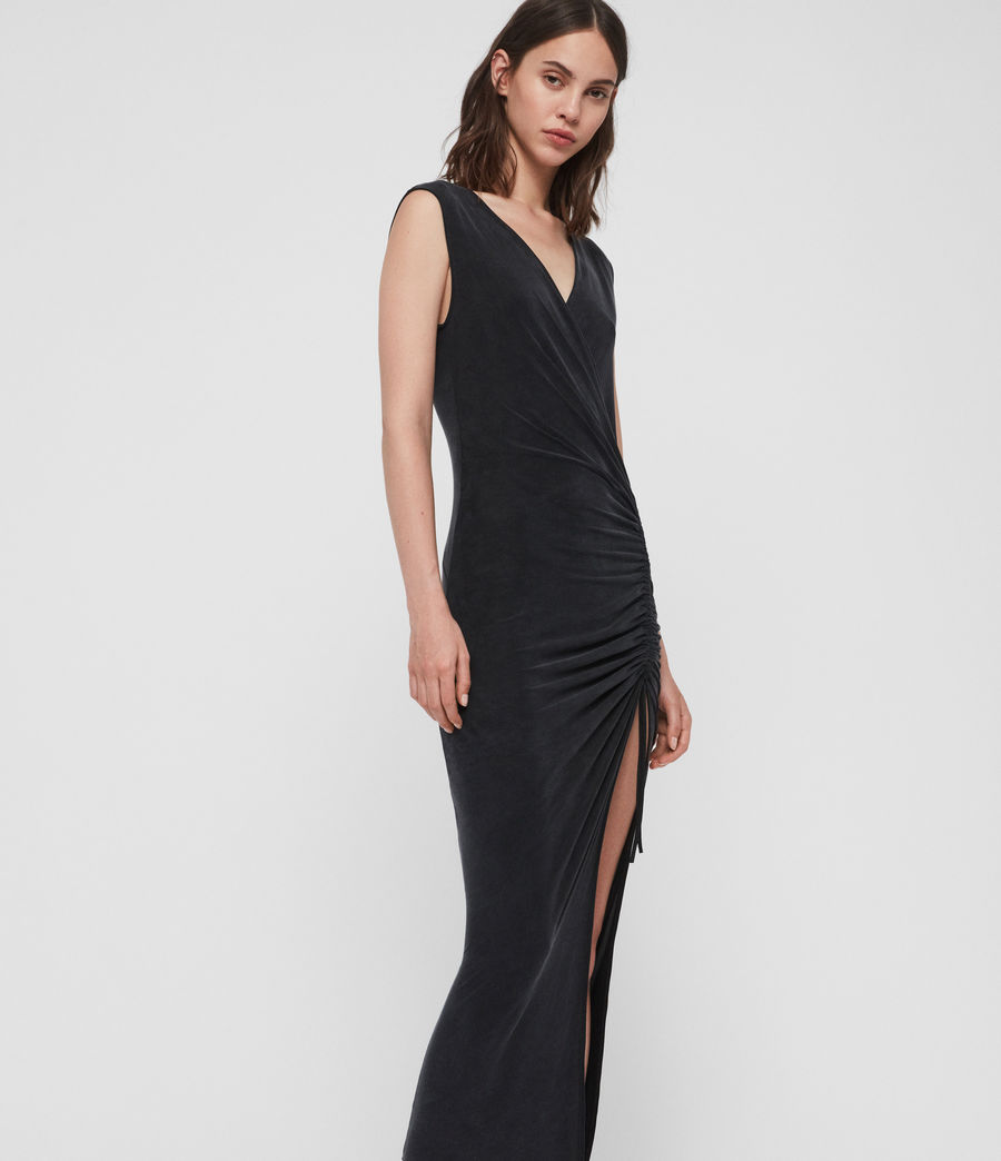 Womens Jacka Dress (washed_black) - Image 1
