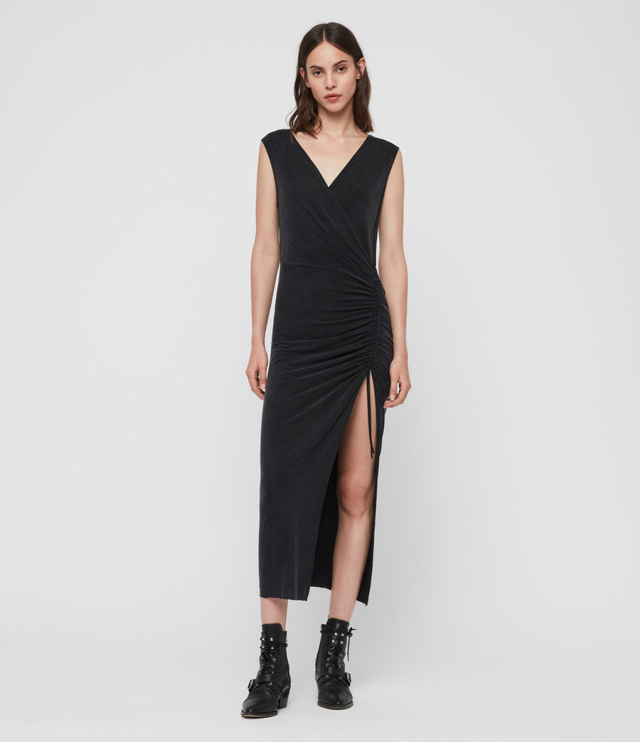 Womens Jacka Dress (washed_black) - Image 2