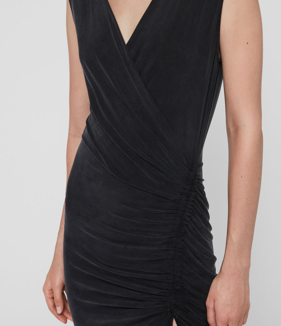 Womens Jacka Dress (washed_black) - Image 4