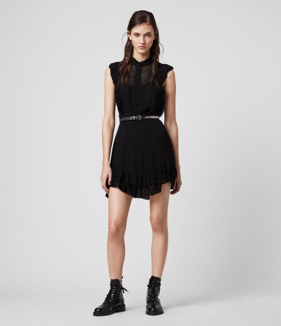 Mujer Mini Vestido Lola (black) - Image 1