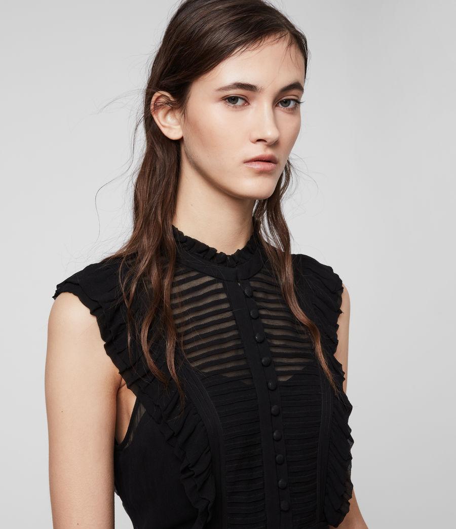 Mujer Mini Vestido Lola (black) - Image 2