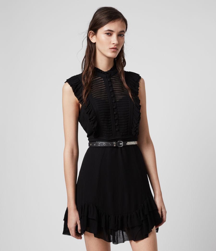 Mujer Mini Vestido Lola (black) - Image 3