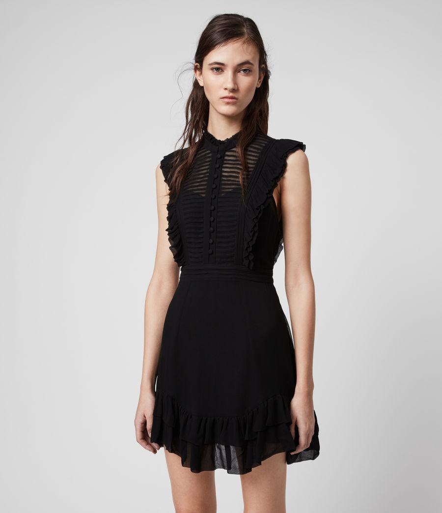 Mujer Mini Vestido Lola (black) - Image 4
