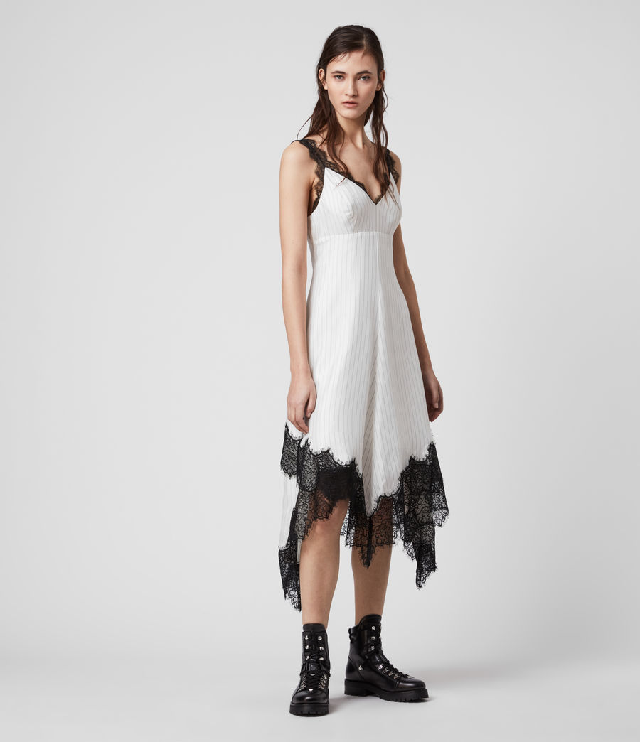 Women's Skylar Lace Dress (chalk_white) - Image 7