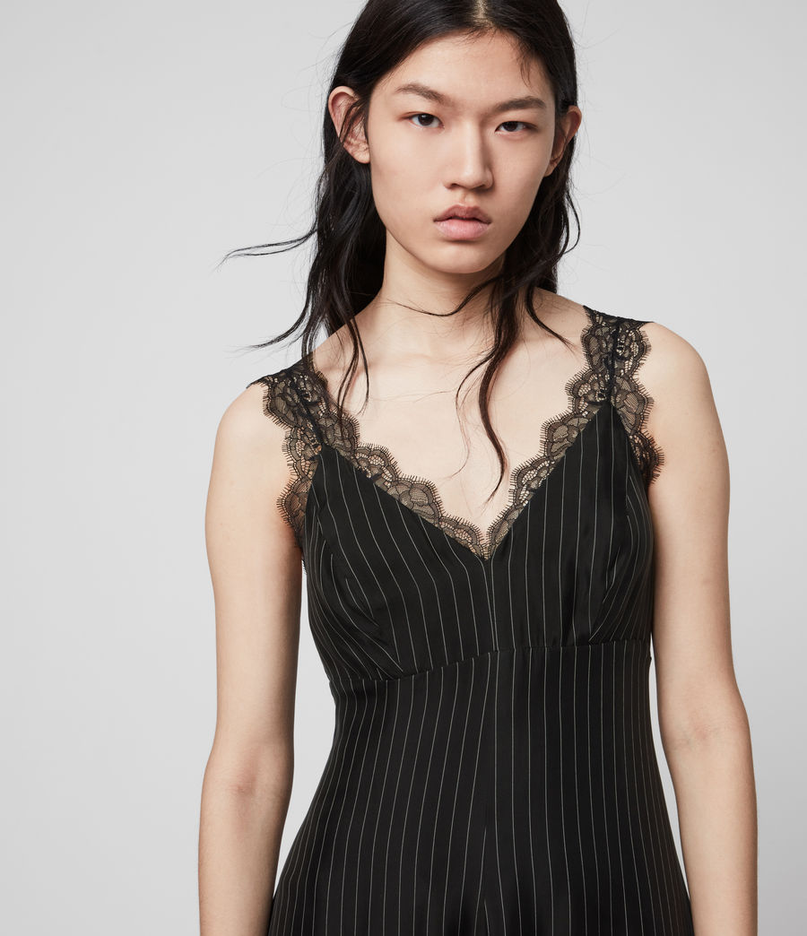 Womens Skylar Lace Dress (black) - Image 2