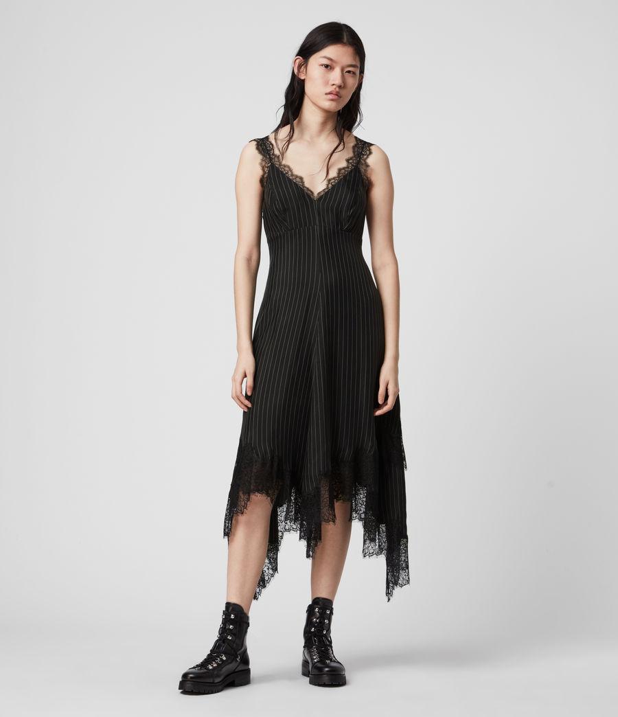 Womens Skylar Lace Dress (black) - Image 3
