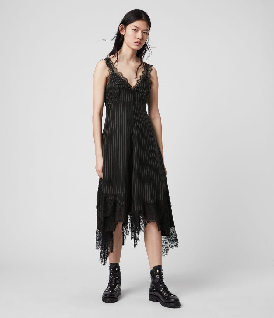 Womens Skylar Lace Dress (black) - Image 4