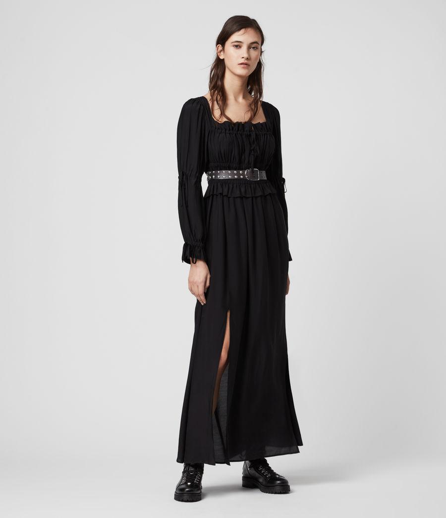 Womens Kimi Silk Blend Dress (black) - Image 1