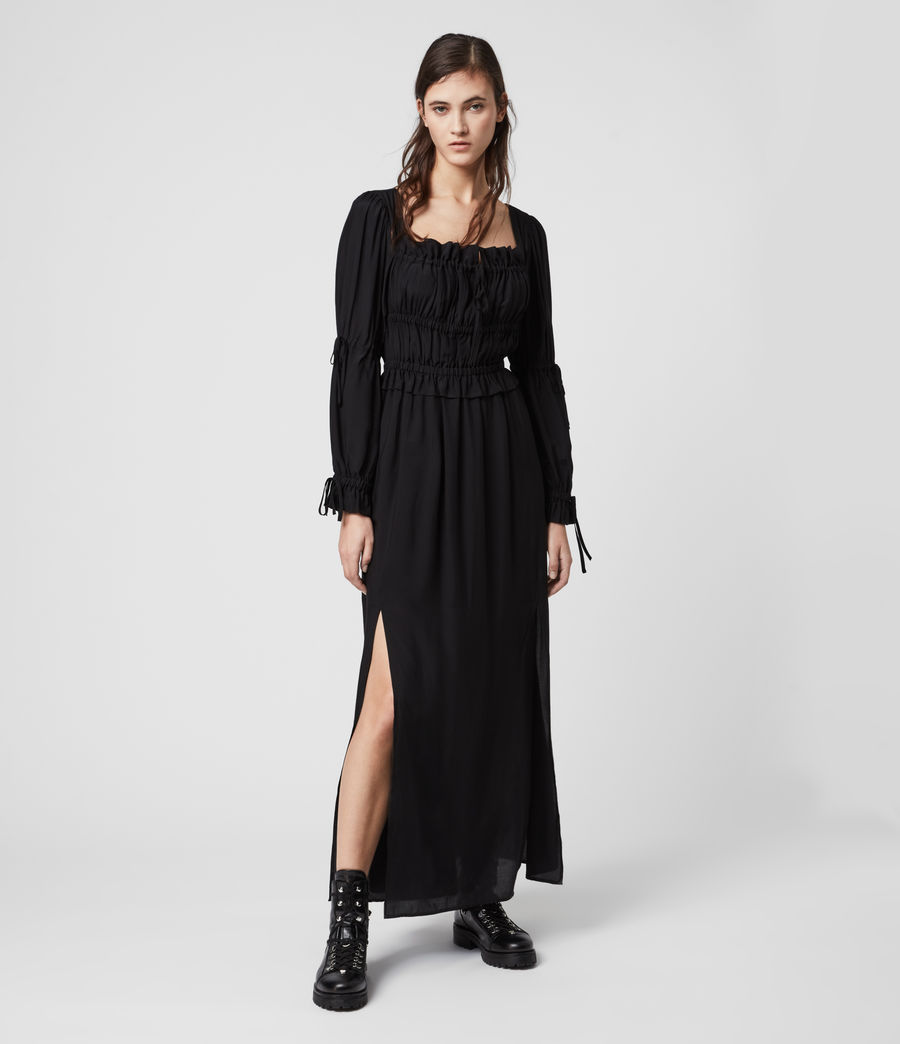 Women's Kimi Silk Blend Dress (black) - Image 3