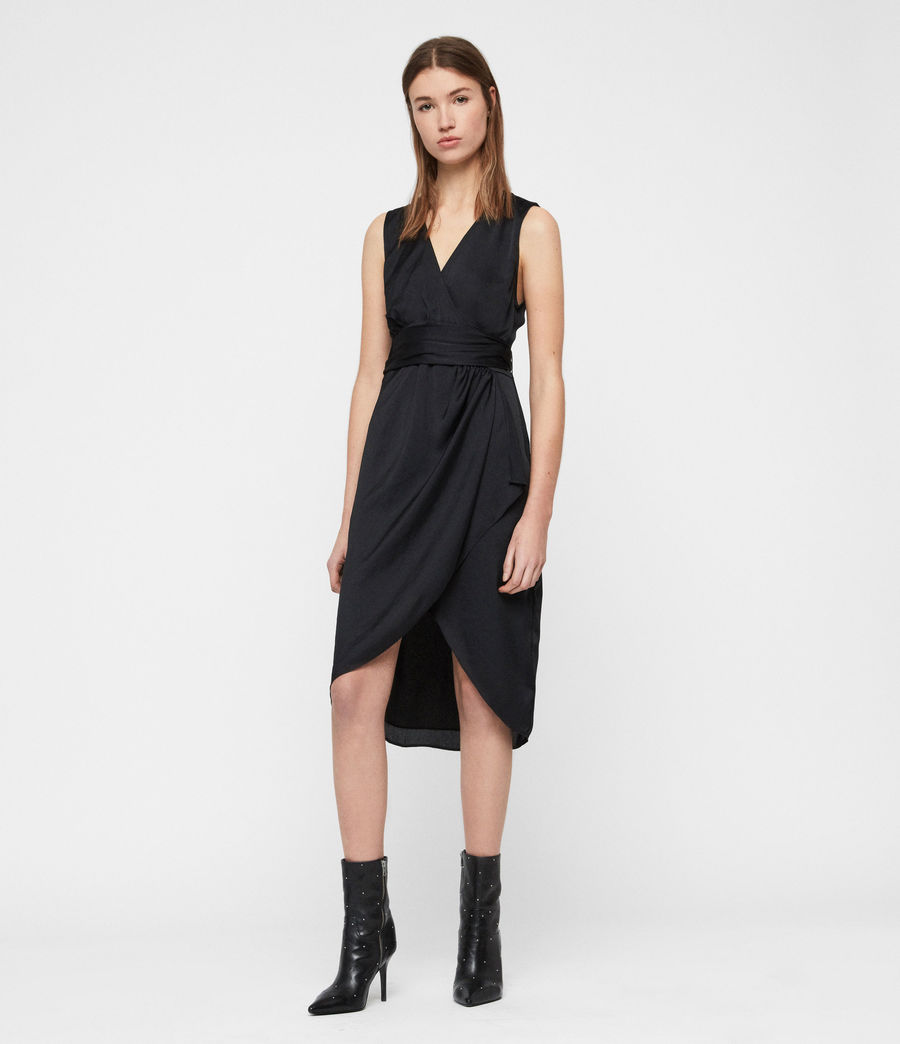 Women's Sarai Dress (black) - Image 2
