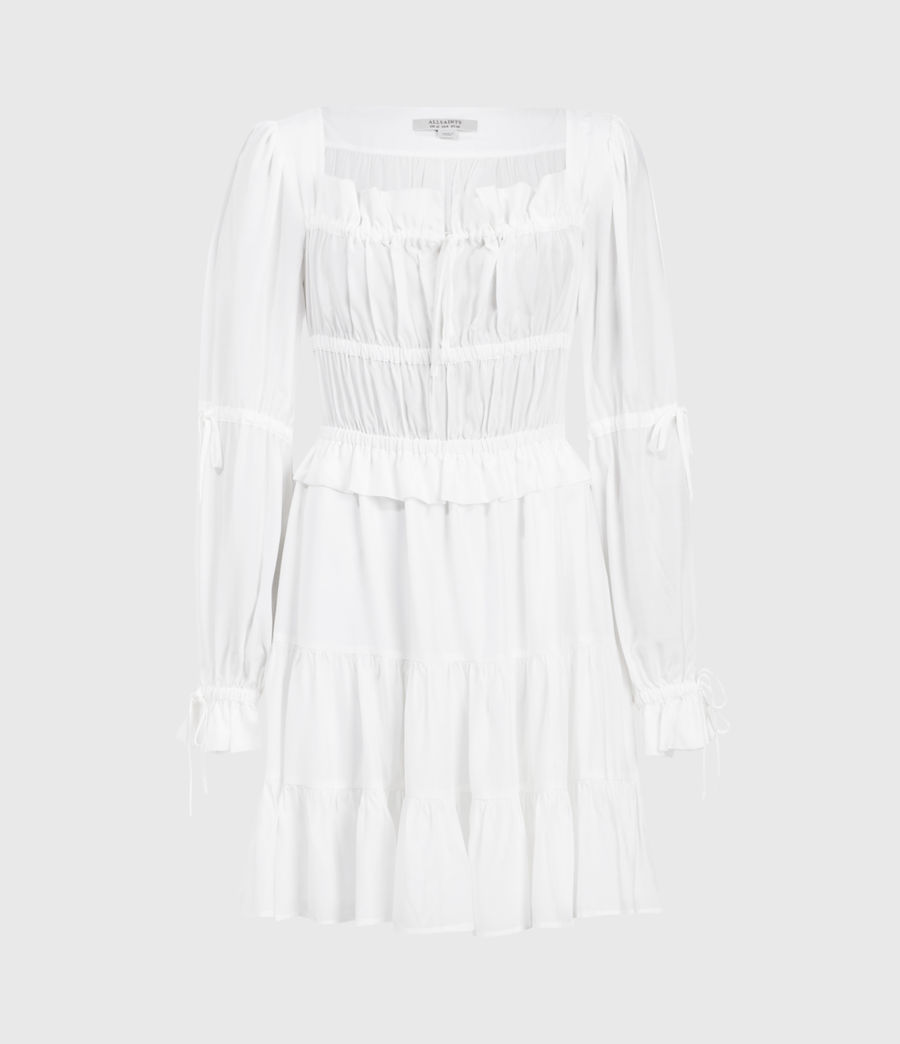 Women's Kimi Short Silk Blend Dress (chalk_white) - Image 1