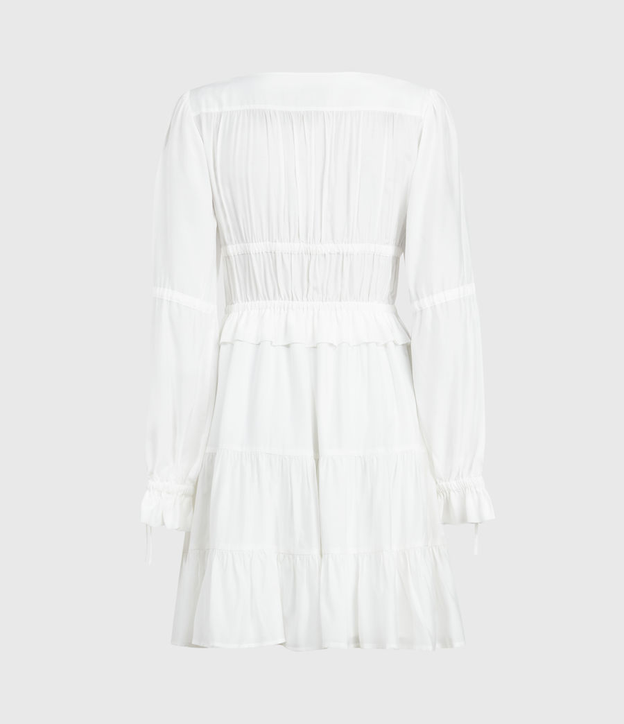 Women's Kimi Short Silk Blend Dress (chalk_white) - Image 2
