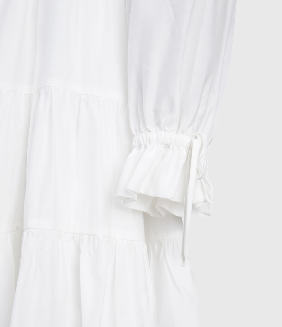 Women's Kimi Short Silk Blend Dress (chalk_white) - Image 4