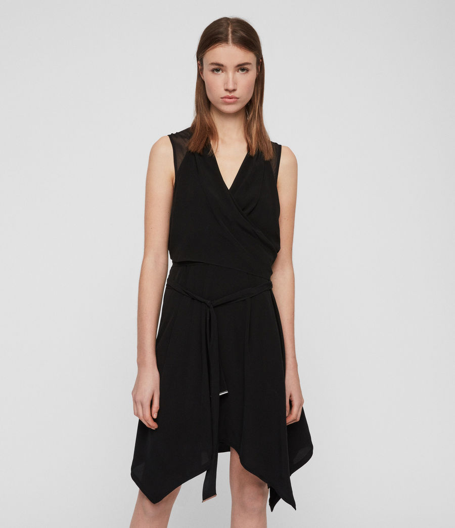 Women's Odessa Dress (black) - Image 1