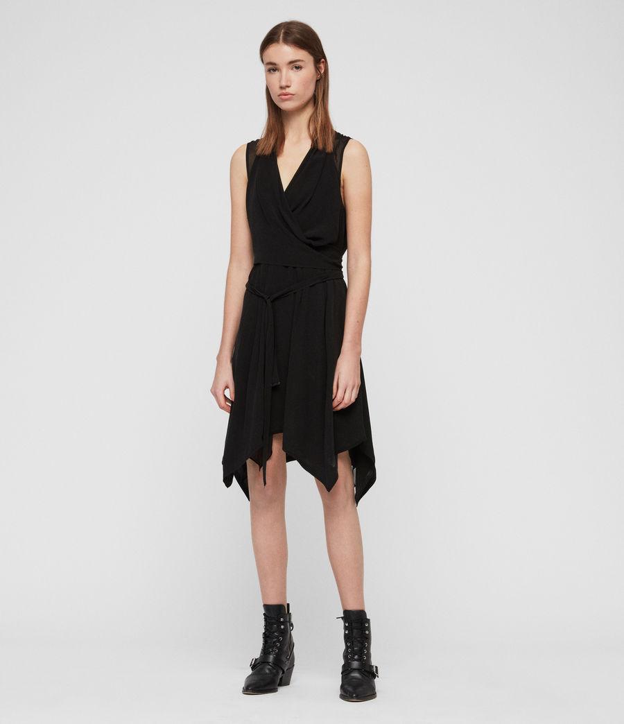 Womens Odessa Dress (black) - Image 2