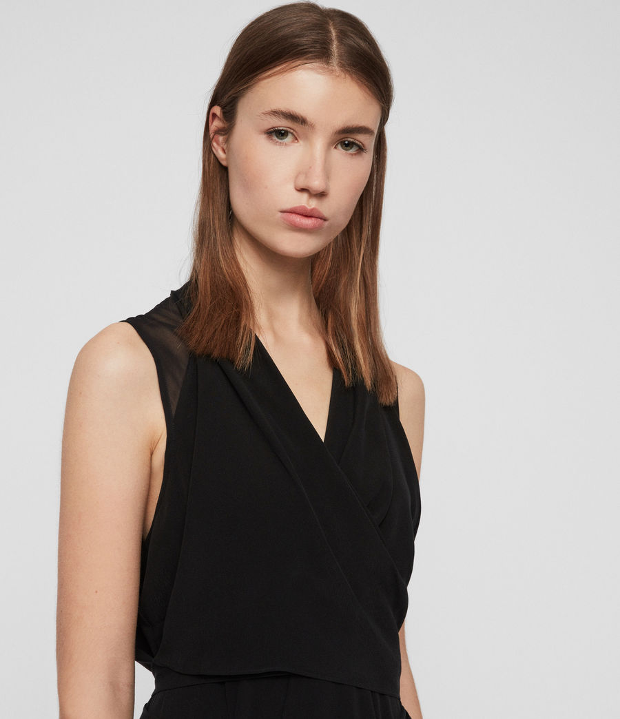 Women's Odessa Dress (black) - Image 2