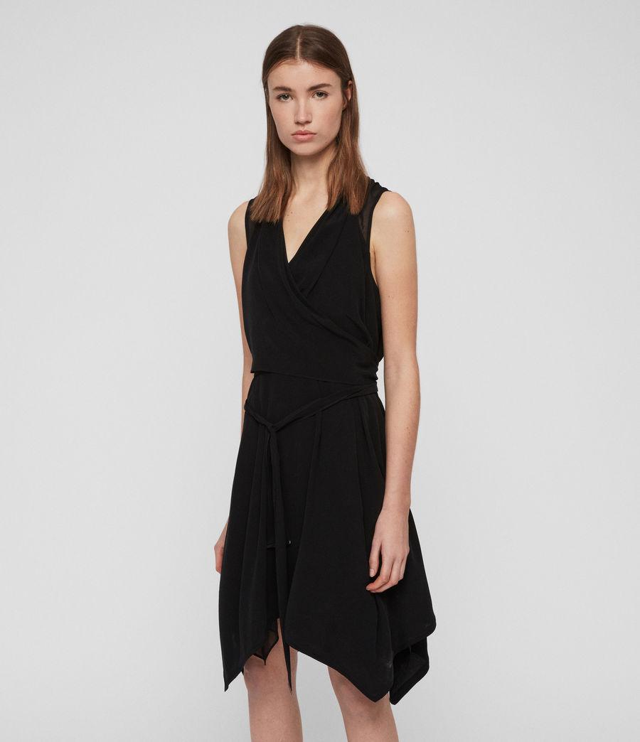 Women's Odessa Dress (black) - Image 3