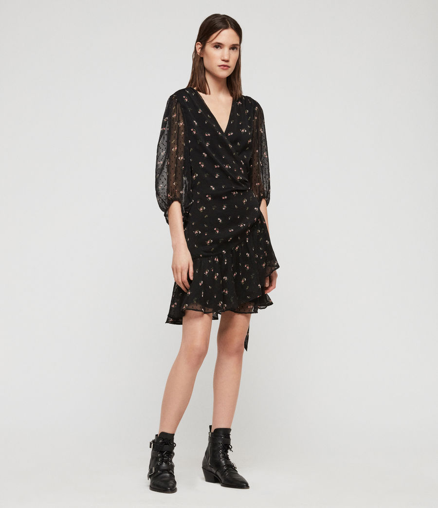 Womens Jade Aster Dress (black) - Image 2