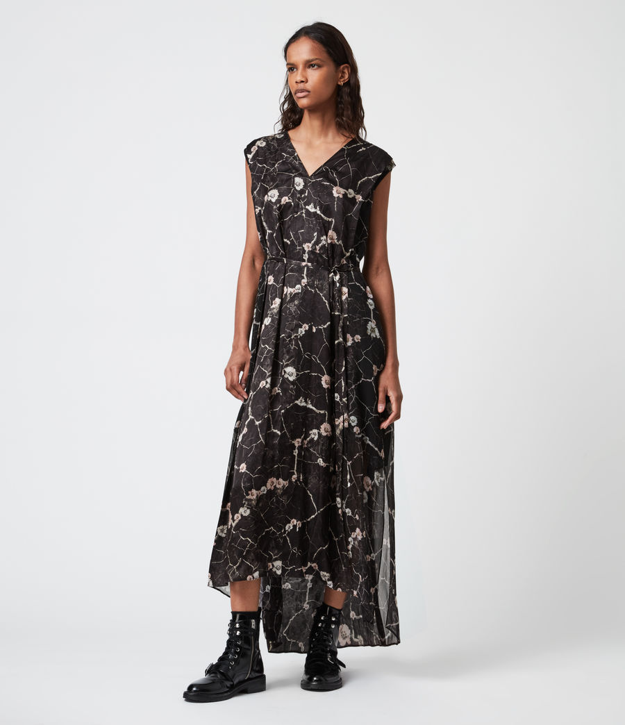 Womens Karian Silk Blend Hope Dress (black) - Image 1