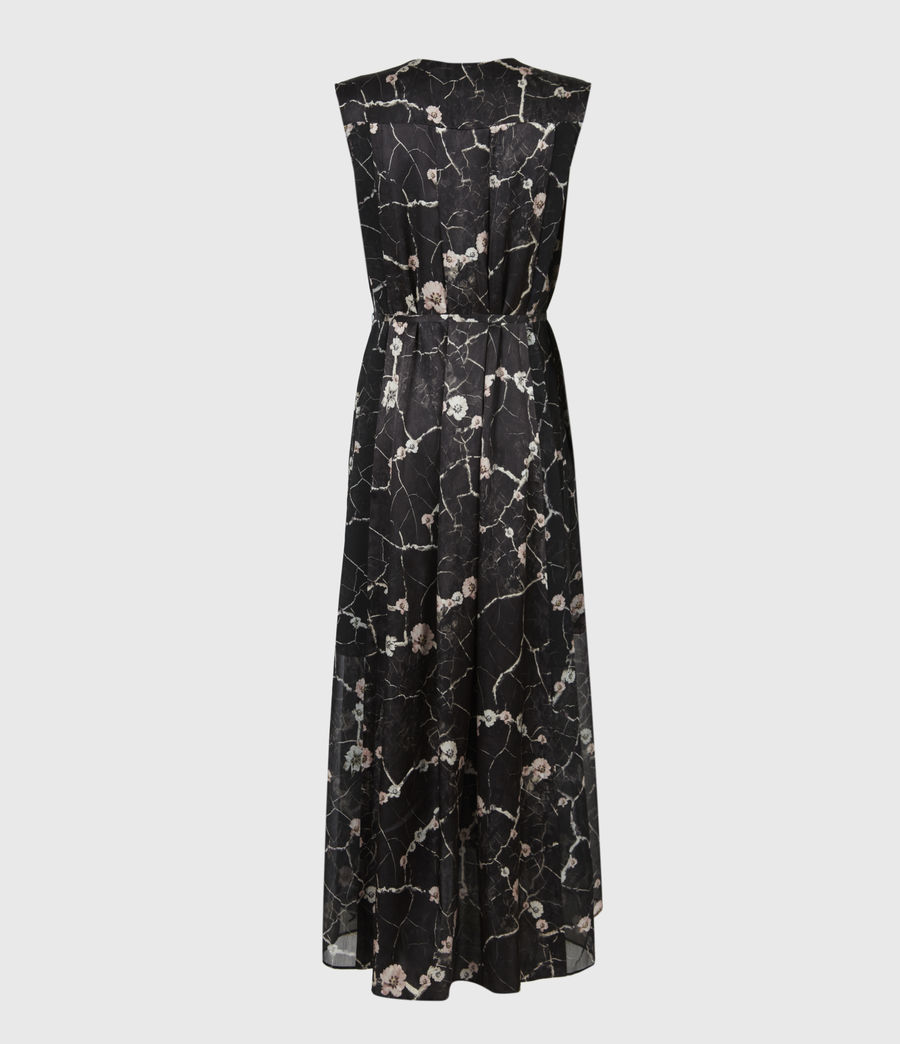 Womens Karian Silk Blend Hope Dress (black) - Image 3
