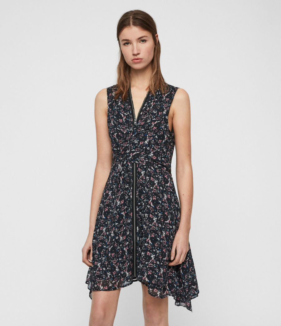 Womens Jayda Sketch Dress (black) - Image 1