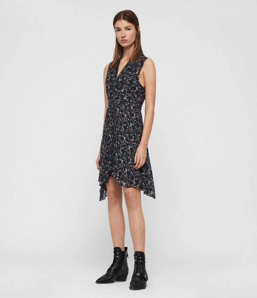 Womens Jayda Sketch Dress (black) - Image 2
