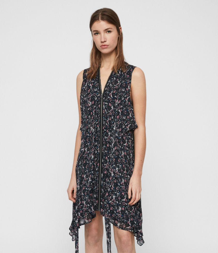 Womens Jayda Sketch Dress (black) - Image 3
