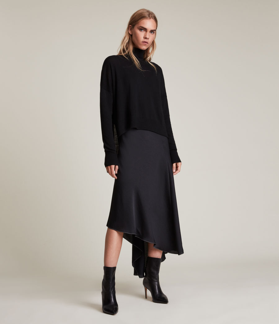 Womens Lena 2-In-1 Dress (black) - Image 1