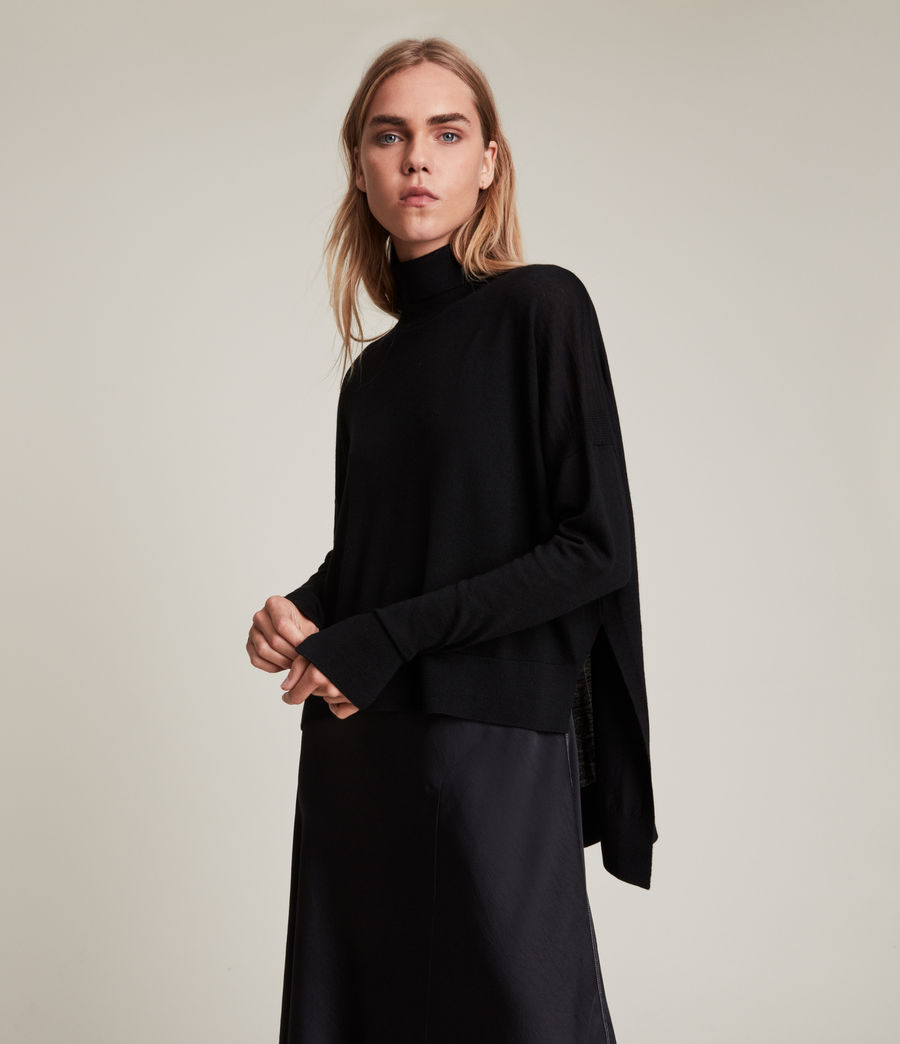Womens Lena 2-In-1 Dress (black) - Image 4