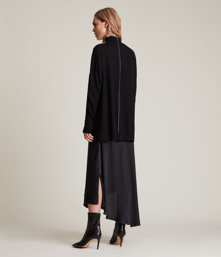 Womens Lena 2-In-1 Dress (black) - Image 7