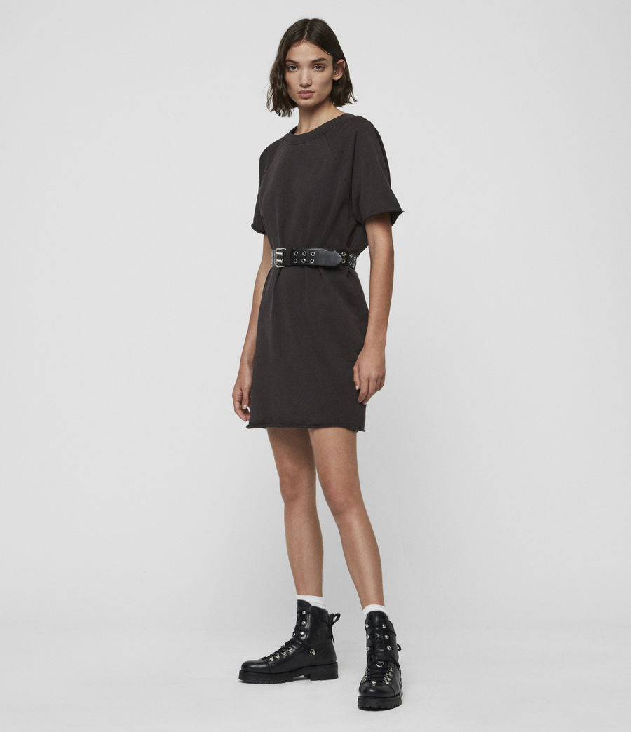 Womens Petunia Sweat Dress (washed_black) - Image 1