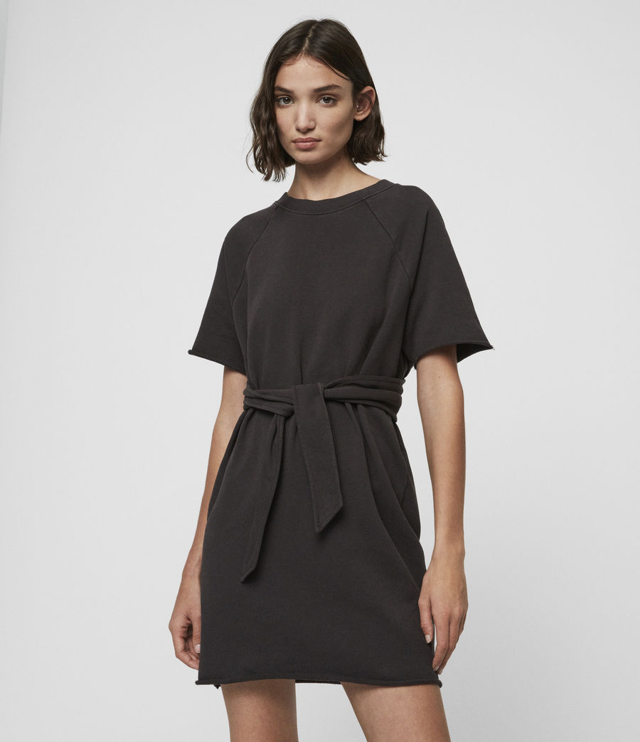 Femmes Robe-Sweat Petunia (washed_black) - Image 2
