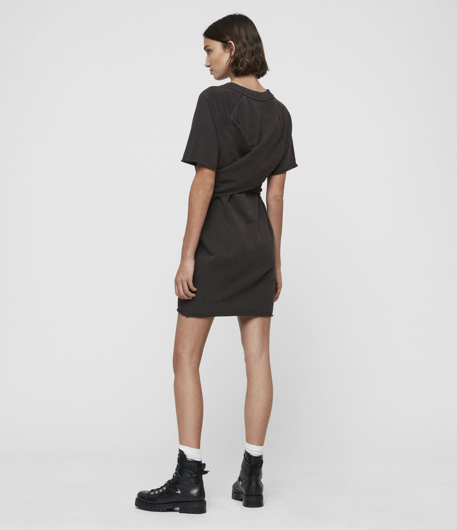 Femmes Robe-Sweat Petunia (washed_black) - Image 5